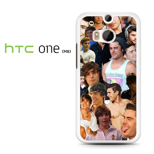 Zac Efron Collage - HTC M8 Case - Tatumcase