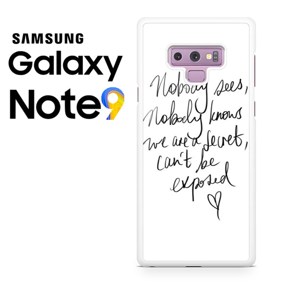 Zara Larsson Lyric - Samsung Galaxy NOTE 9 Case - Tatumcase