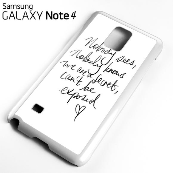 Zara Larsson Lyric - Samsung Galaxy Note 4 Case - Tatumcase