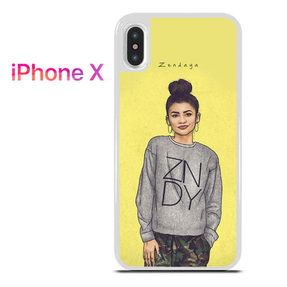 Zendaya TY 8 - iPhone X Case - Tatumcase