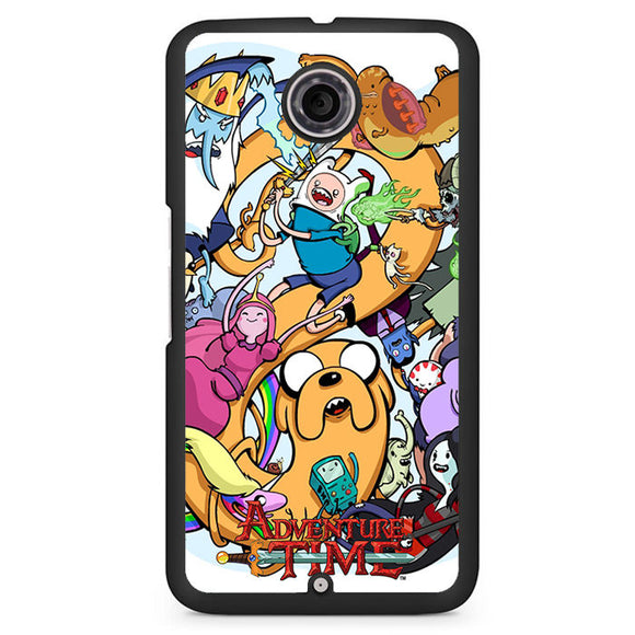 Adventure Time Characters Phonecase Cover Case For Google Nexus 4 Nexus 5 Nexus 6 - tatumcase