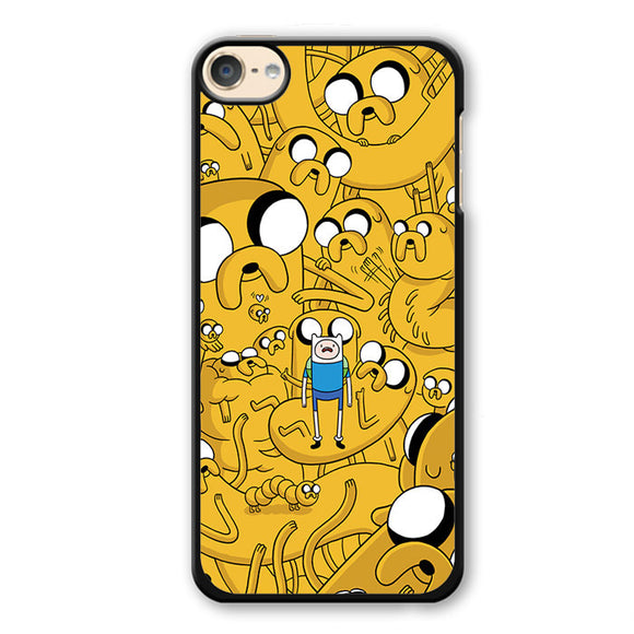 Adventure Time Jake Collage Phonecase Cover Case For Apple Ipod 4 Ipod 5 Ipod 6 - tatumcase
