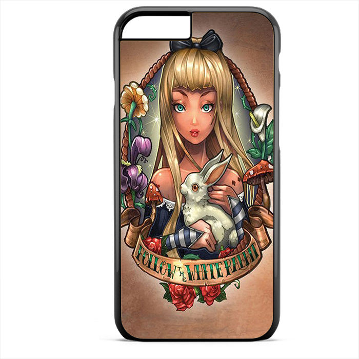 Alice And Wonderland Pin Up Phonecase For Iphone 4/4S Iphone 5/5S Iphone 5C Iphone 6 Iphone 6S Iphone 6 Plus Iphone 6S Plus - tatumcase
