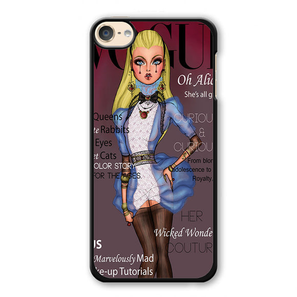 Alice Disney Vogue Magazine Phonecase Cover Case For Apple Ipod 4 Ipod 5 Ipod 6 - tatumcase