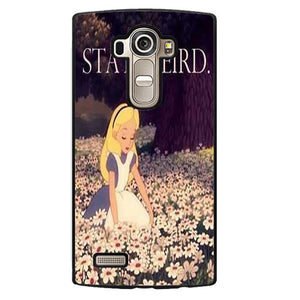 Alice In Wonderland Stay Weird Phonecase Cover Case For LG G3 LG G4 - tatumcase