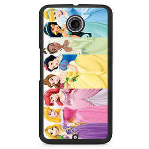 All Disney Princess Phonecase Cover Case For Google Nexus 4 Nexus 5 Nexus 6