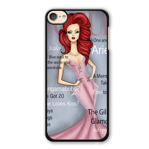 Ariel Disney Vogue Magazine Phonecase Cover Case For Apple Ipod 4 Ipod 5 Ipod 6