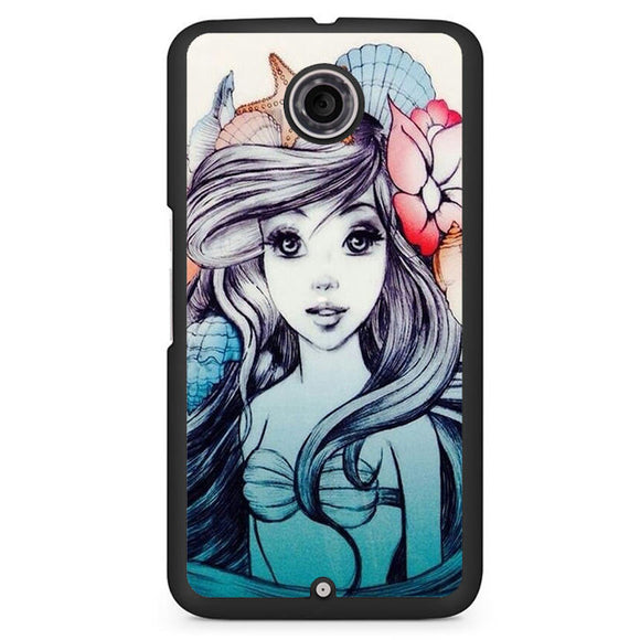 Ariel Fanart Phonecase Cover Case For Google Nexus 4 Nexus 5 Nexus 6