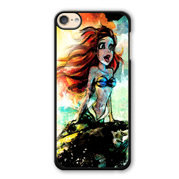Ariel The Mermaid Art Watercolor Phonecase Cover Case For Apple Ipod 4 Ipod 5 Ipod 6