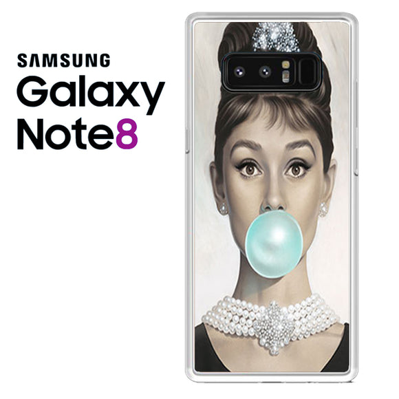 audrey hepburn bubble gum - Samsung Galaxy Note 8 Case - Tatumcase