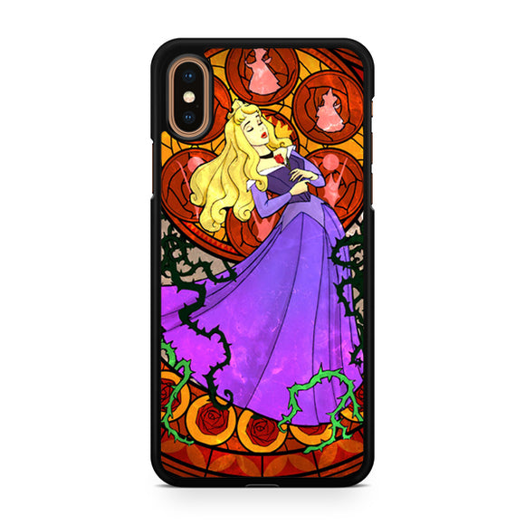 aurora sleeping beauty stained glass, Custom Phone Case, iPhone Case, iPhone XS Case
