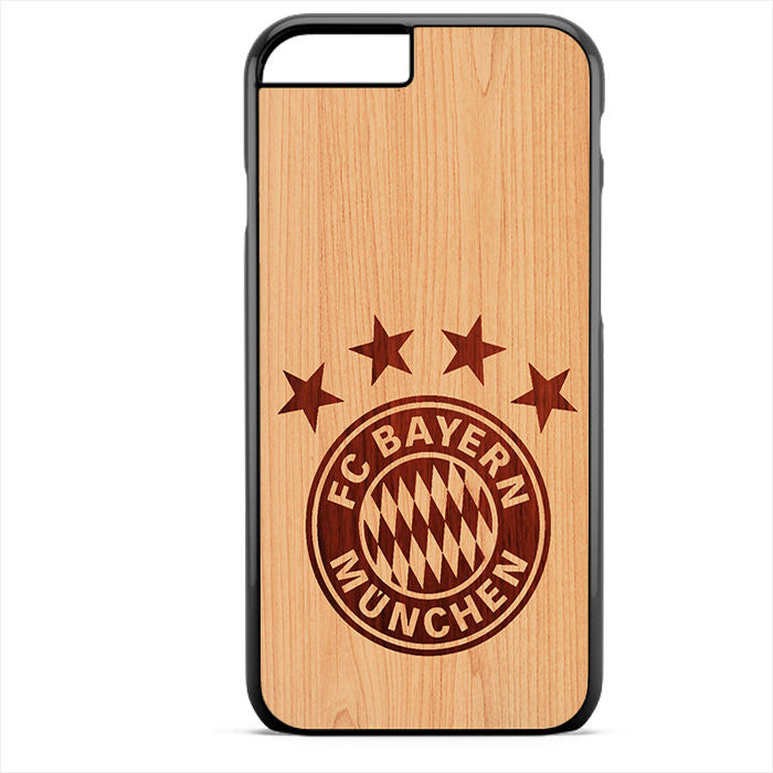 Bayern Munchen Wood Phonecase For Iphone 4/4S Iphone 5/5S Iphone 5C Iphone 6 Iphone 6S Iphone 6 Plus Iphone 6S Plus