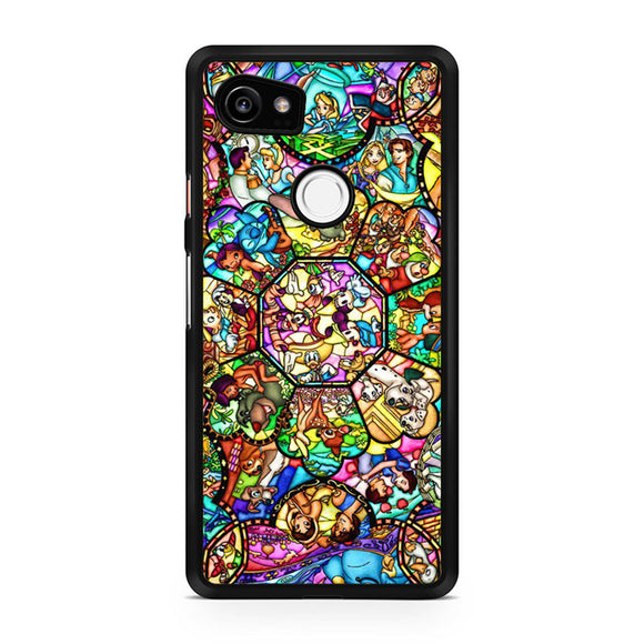 disney characters stained glass, Custom Phone Case, Google Pixel 2 XL Case, Pixel 2 XL Case, Tatumcase
