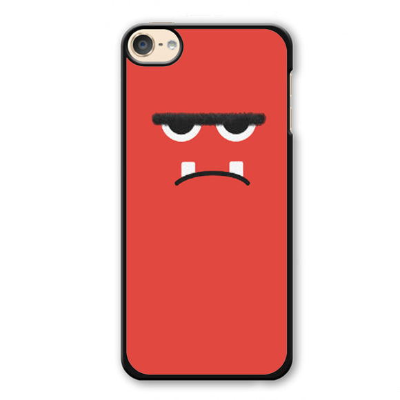 Pink Angry Monster Face Phonecase Cover Case For Apple Ipod 4 Ipod 5 Ipod 6