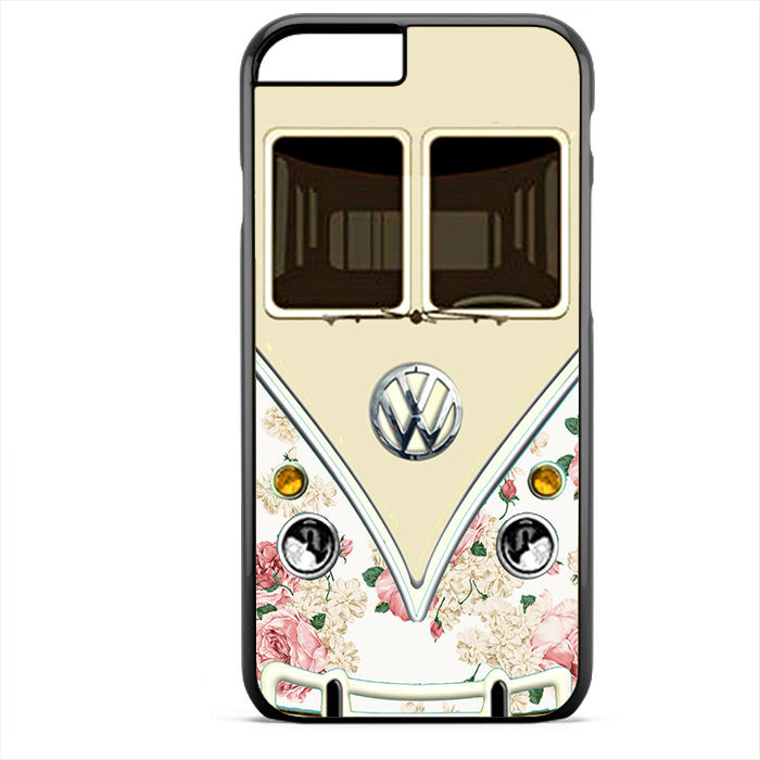 Pink Floral Vw Retro Bus Phonecase For Iphone 4/4S Iphone 5/5S Iphone 5C Iphone 6 Iphone 6S Iphone 6 Plus Iphone 6S Plus