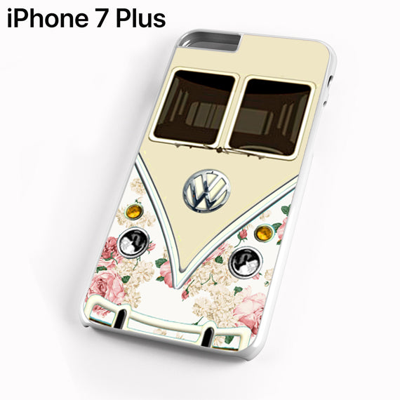 pink floral vw retro bus - iPhone 7 Plus Case - Tatumcase