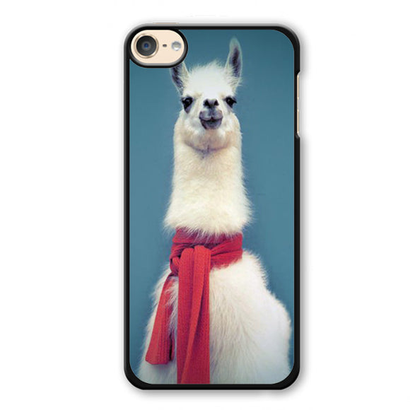 Red Scarf Llama 3 Phonecase Cover Case For Apple Ipod 4 Ipod 5 Ipod 6