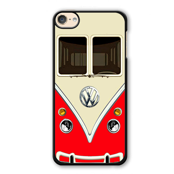 Red Vw Retro Bus Phonecase Cover Case For Apple Ipod 4 Ipod 5 Ipod 6