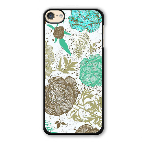 Retro Floral Phonecase Cover Case For Apple Ipod 4 Ipod 5 Ipod 6