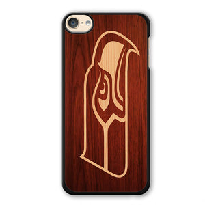 Seahawk Wood Phonecase Cover Case For Apple Ipod 4 Ipod 5 Ipod 6