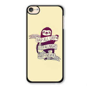 Sloth Nap All Day Phonecase Cover Case For Apple Ipod 4 Ipod 5 Ipod 6