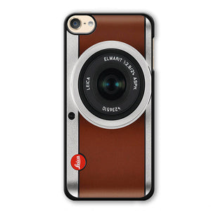 Tanned Leather Leica Camera Phonecase Cover Case For Apple Ipod 4 Ipod 5 Ipod 6