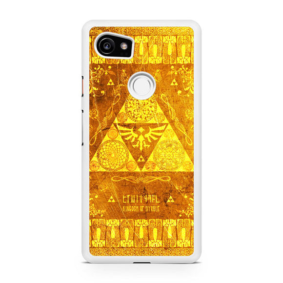 the legend of zelda gold pattern, Custom Phone Case, Google Pixel 2 XL Case, Pixel 2 XL Case, Tatumcase