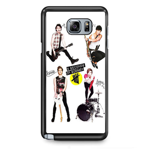 5 Seconds Of Summer And Tools TATUM-75 Samsung Phonecase Cover Samsung Galaxy Note 2 Note 3 Note 4 Note 5 Note Edge