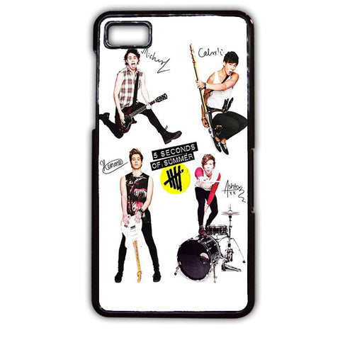 5 Seconds Of Summer And Tools TATUM-75 Blackberry Phonecase Cover For Blackberry Q10, Blackberry Z10
