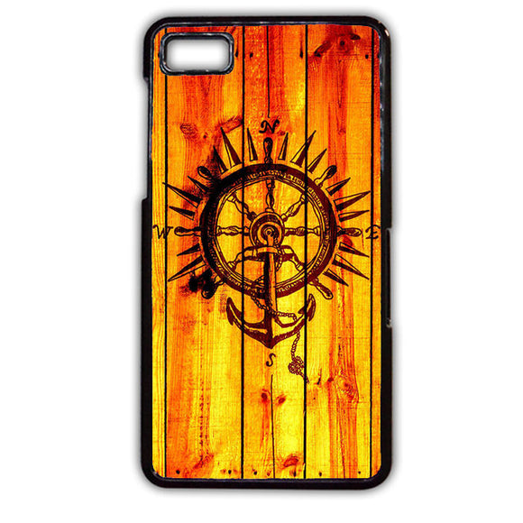 Anchor Compas Wood TATUM-745 Blackberry Phonecase Cover For Blackberry Q10, Blackberry Z10