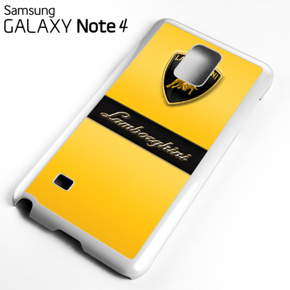 yellow lamborghini - Samsung Galaxy Note 4 Case - Tatumcase