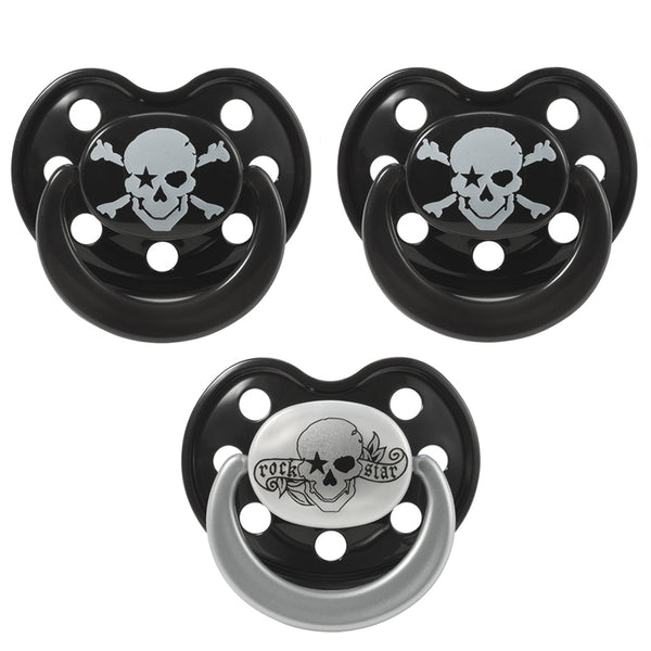 "Pacifier set ""PIRATES"", 3 PIECES"
