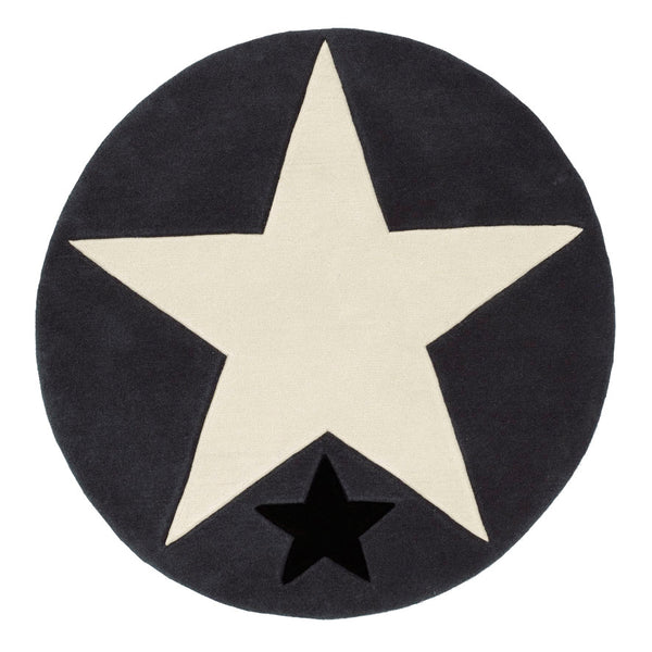 "Rock Star Rug ""Big Star"" anthracite"
