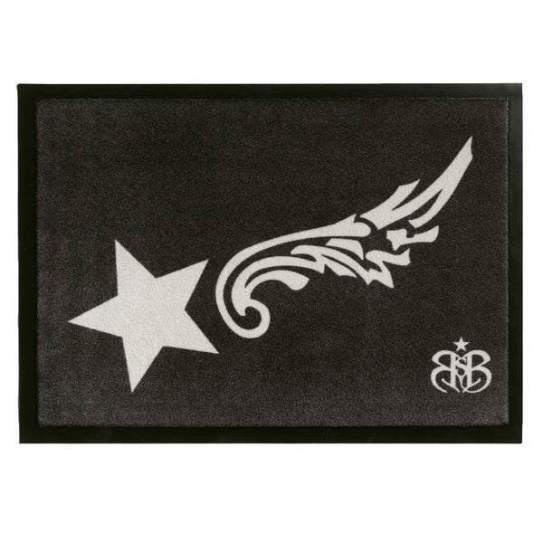 "Rock Star Doormat ""Wings"""