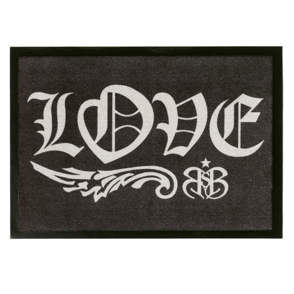 "Rock Star Doormat ""Love"""