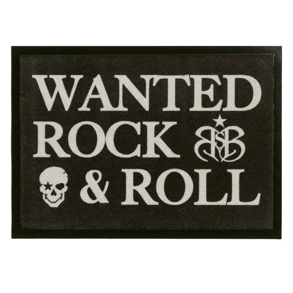"Rock Star Doormat ""Wanted"""
