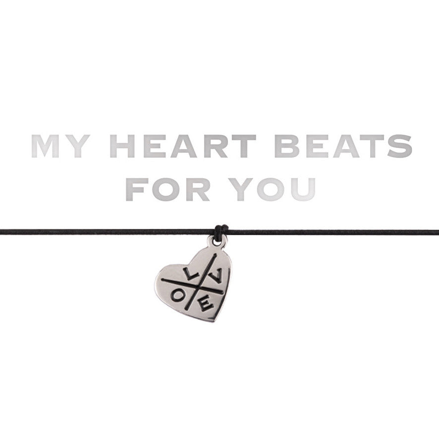 "Armband ""MY HEART BEATS FOR YOU"""