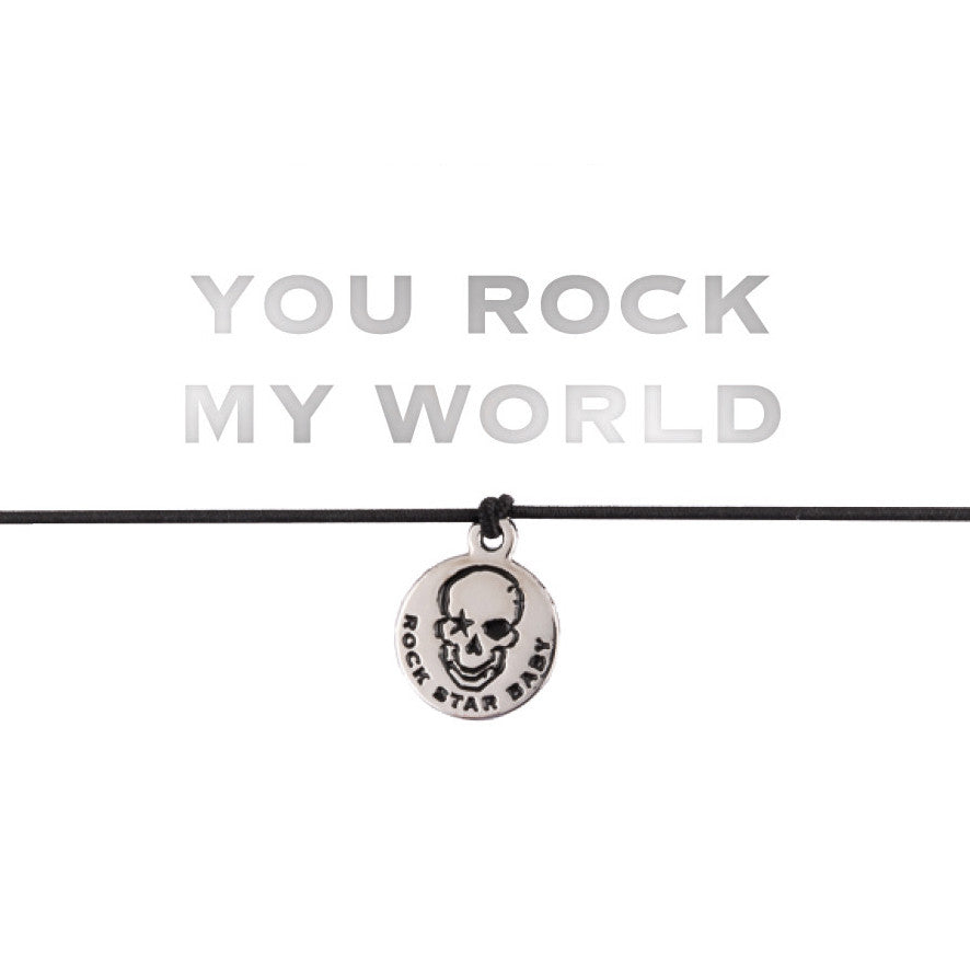 "Armband ""YOU ROCK MY WORLD"""