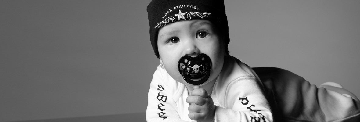 ROCK STAR BABY Beanie and pacifier pirat skull