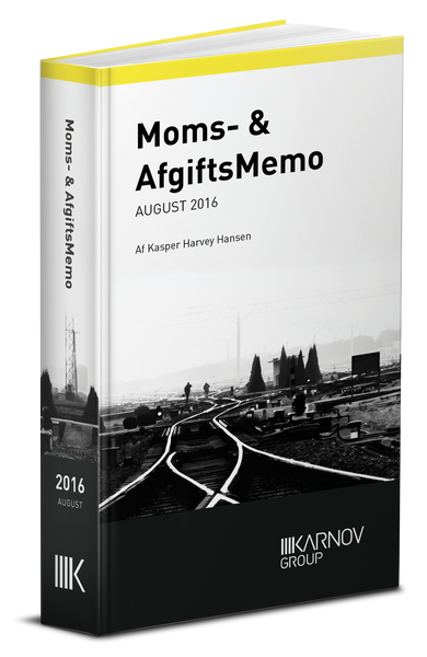 Moms & AfgiftsMemo - August 2016