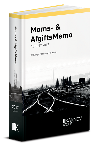 Moms- & AfgiftsMemo - August 2017 - Abonnement