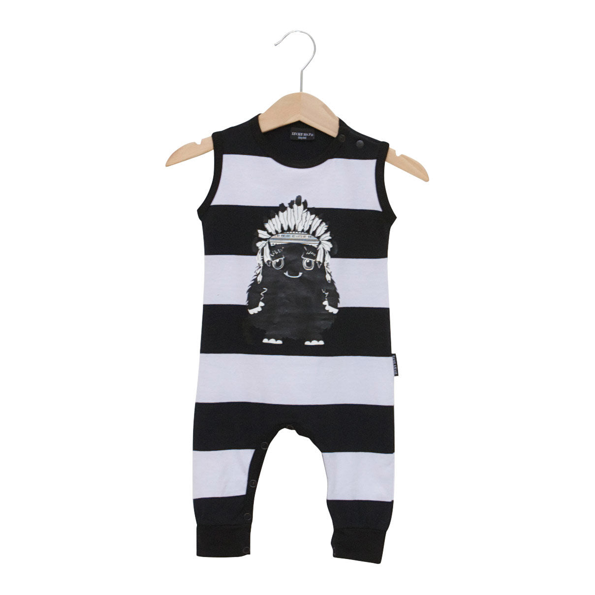 1750069c537e Ethnic Safari Monster Romper | Lucky No 7 | Modern Baby Clothing