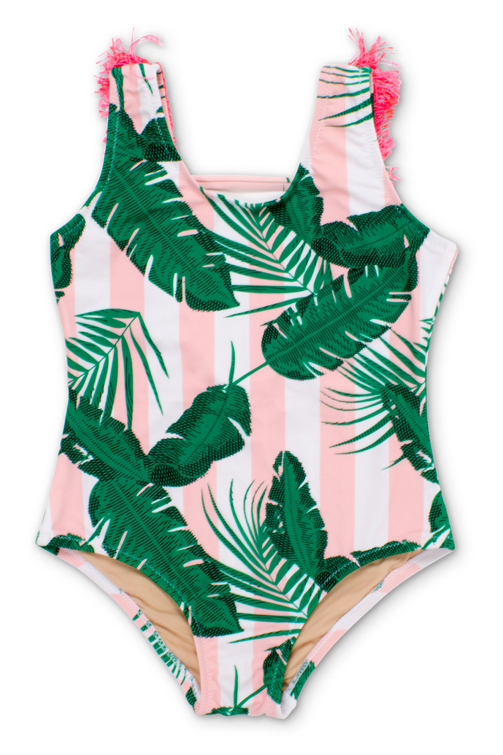 1e2273314298 Shade Critters Stripes and Palms Girls Bathing Suit ...