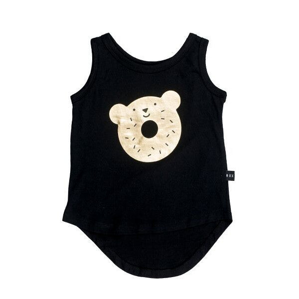 Organic Designer Clothes | Huxbaby Dough Bear Tank Organic Cotton Kids Designer Clothes