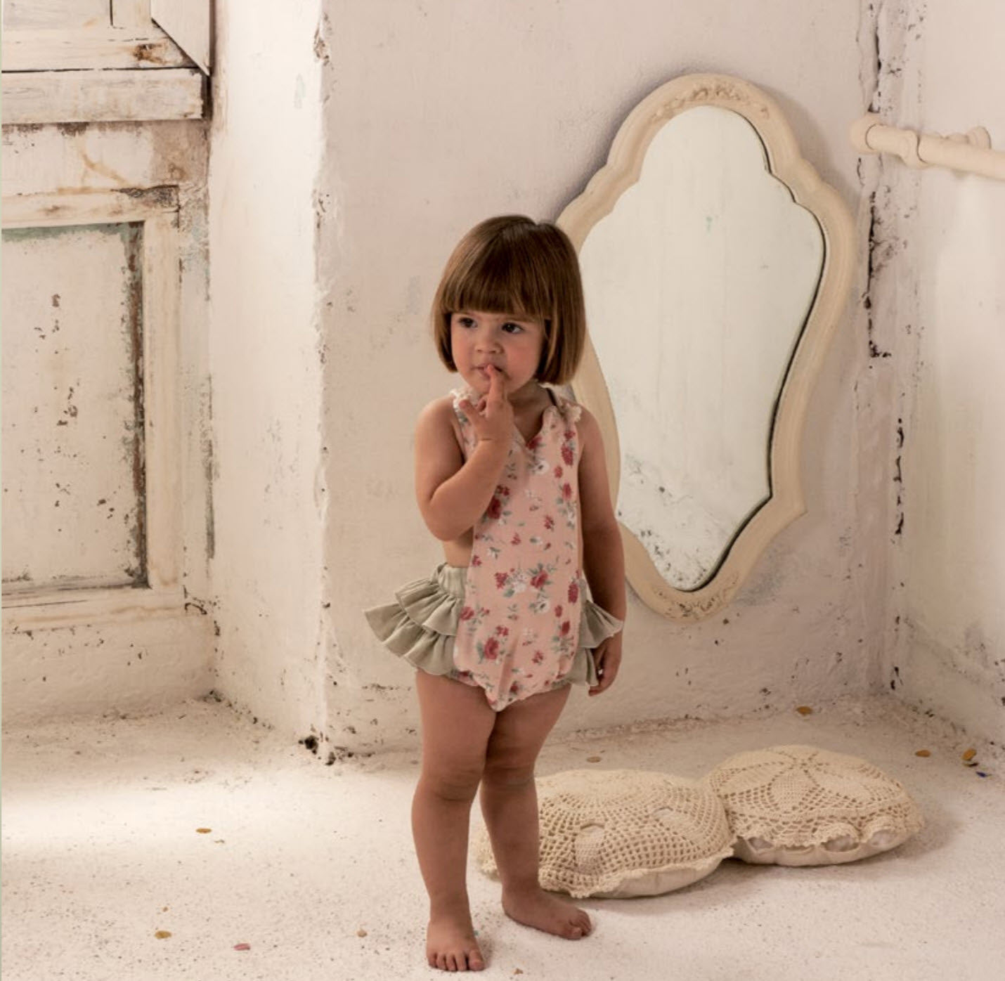 2a26970b496aa Popelin Floral Baby Romper | Designer Clothes from Spain | CocoMingos