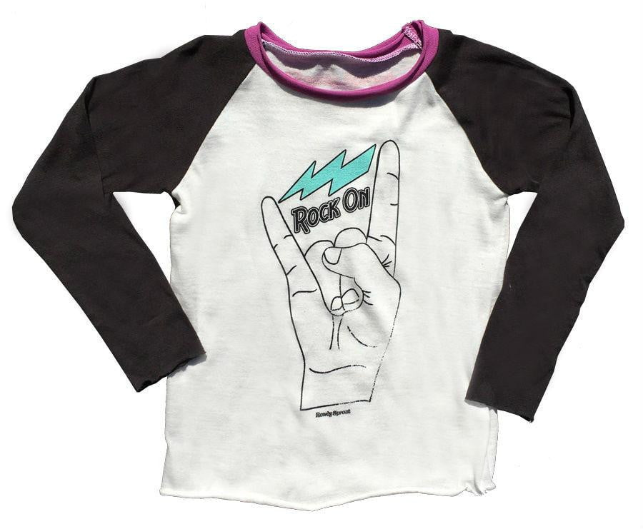 d1c69d17b Rock On' Girls Tee by Rowdy Sprout | Cocomingos