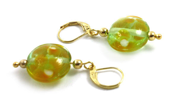 Transparent Green Earrings | The Earring Collection