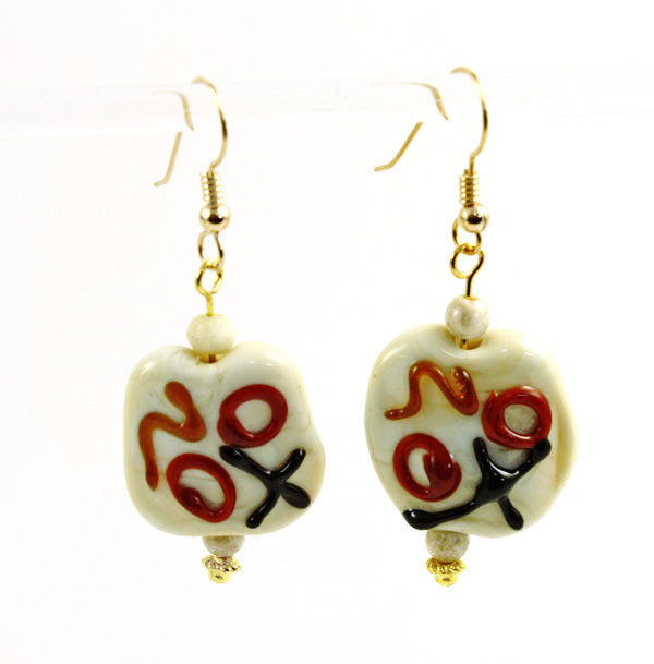 Ivory Graffiti Earrings | The Earring Collection