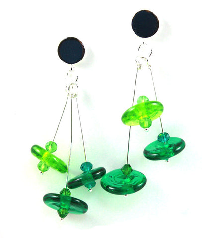 Spring Green  Earrings | The Earring Collection