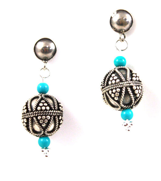 Bali Silver Bead Earrings | Ancient Treasures Collection